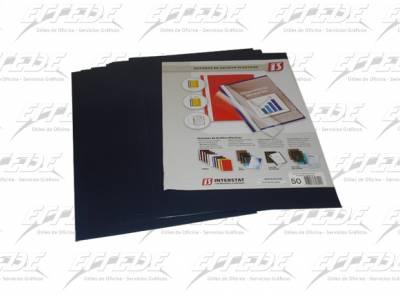 TAPAS INTER PVC A4 AZUL MARINO X 50