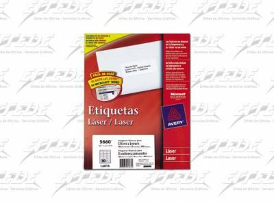 ETIQUETA AVERY  CA 50P CORREO 25X67 TRAN