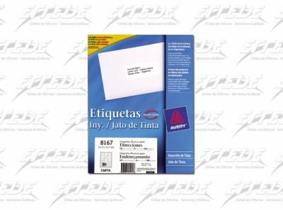 ETIQUETA AVERY  CA 25P REMITE 13X45 INKJ