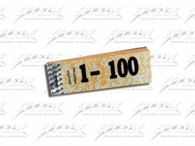 TALONARIO GUARDARROPA   1-100