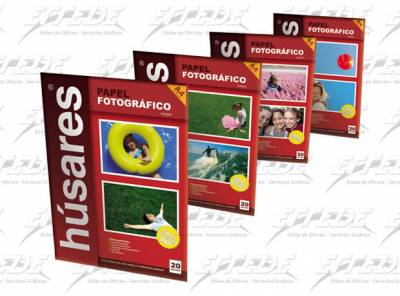 PAPEL HUSARES FOTO GLOSSY A4 150G*20