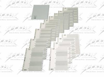 INDICE PLAST BANTEX A4 (A-Z) GRIS