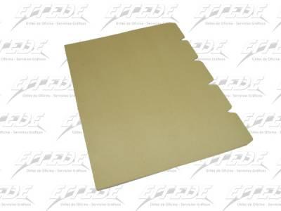 SEPARADOR CART MANILA A4 5 POS NEPACO