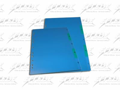 SEPARADOR PLAST LAMA OF 5 POS COLOR
