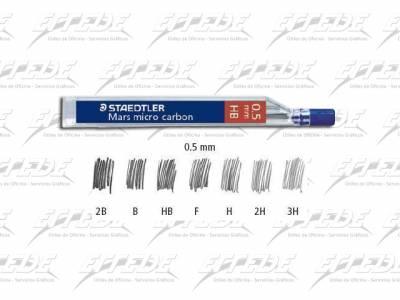 MINAS STAEDTLER 0.5 2B TUBO X 12